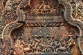 Free Cambodia Angkor Beantey Srey Carved Pediment Stock Images - 5372914