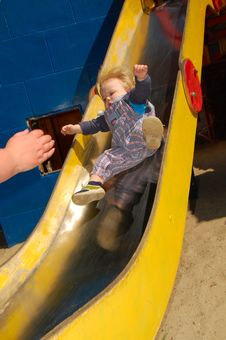Free Baby Sliding Down Royalty Free Stock Photos - 5370148
