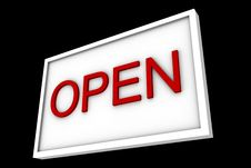 Free Sign Says Open Stock Photos - 5370423