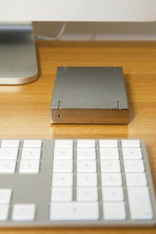 Free Hard Drive And Keyboard Stock Photo - 5371450