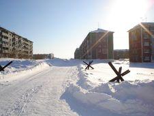 Free Snow Houses Royalty Free Stock Photo - 5371515