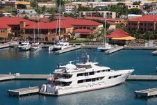 Free Caribbean Mega Yacht Stock Image - 5371621