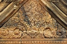 Free Cambodia Angkor Banteay-Srei Carving Stone Stock Image - 5372181