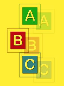 Free ABC Blocks Royalty Free Stock Photo - 5372225
