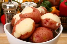 Free Red Potatoes Boiled Royalty Free Stock Photography - 5372357