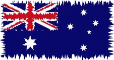 Australia Flag Stylized Royalty Free Stock Photos
