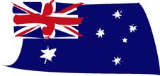 Australia Flag Distorted Royalty Free Stock Image