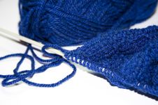 Free Blue Wool Royalty Free Stock Image - 5372776
