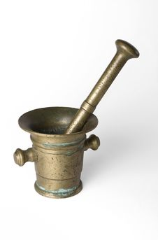 Free Bronze_mortar Royalty Free Stock Photography - 5372907