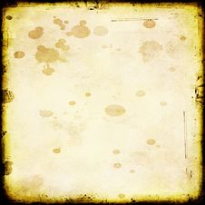 Free Grungy Splatter Stained Paper Royalty Free Stock Photography - 5373137