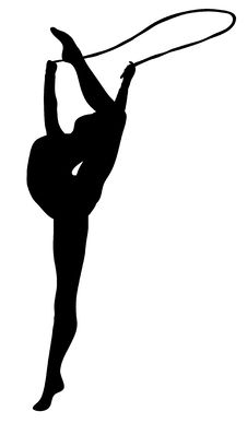 Free Rhythmic Gymnastics: Rope BW Stock Photos - 5373223
