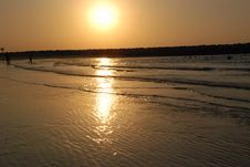 Free Sea And Sunset Royalty Free Stock Image - 5373566