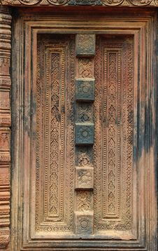 Free Cambodia Angkor Banteay Srey False Door Stock Images - 5374144