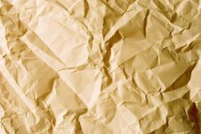 Free Old Crumpled Paper Stock Photo - 5374250