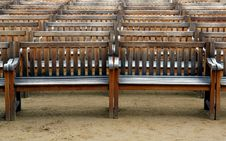Free Wooden Benches Royalty Free Stock Photography - 5374337