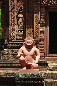Free Cambodia Angkor Banteay Srey Royalty Free Stock Photography - 5374647