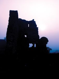 Irish Castle In Ruins Royalty Free Stock Images