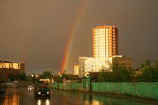 Evening Rainbow Stock Images
