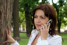 Free Woman Is Talking By Mobile Royalty Free Stock Photo - 5375175