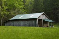 Free Old Barn Field Forest Royalty Free Stock Photography - 5376197