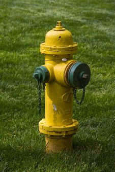 Yellow Green Fire Hydrant Royalty Free Stock Images