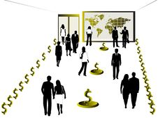 Free Business People And Dollar Stock Photography - 5376582