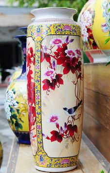 Free The China Vase With Paintings Stock Photography - 5376702