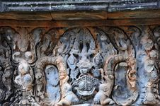 Free Cambodia Angkor Banteay Samre Carved Lintel Stock Image - 5377401