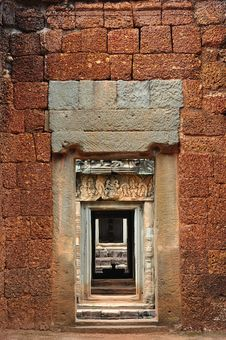 Free Cambodia Angkor Beanteay Samre Indoor View Stock Photography - 5377442