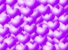 Free Hearts Background Royalty Free Stock Photography - 5377607
