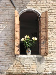 Free Venetian Window Royalty Free Stock Photo - 5378135
