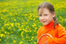 The Playing Girl Royalty Free Stock Photos