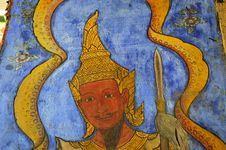 Free Thailand Bangkok Wat Rachanada S Paintings Royalty Free Stock Photo - 5378765