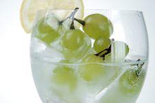 Free Frozen Grapes And Lemon Slice Stock Photos - 5379073