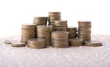 Free Silver Coins In Columns Royalty Free Stock Photos - 5379098