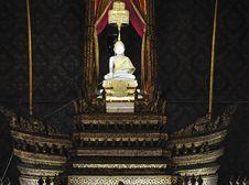 Free Thailand Bangkok Wat Rachanada White Buddha Stock Images - 5379104