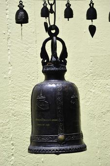 Thailand Bangkok Golden Mount Small Bell Royalty Free Stock Images