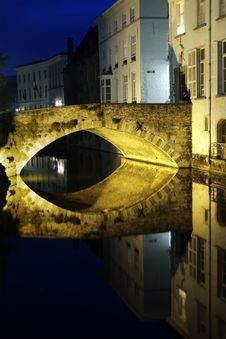 Free Bruges At Night Stock Photos - 5379363