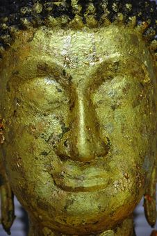 Thailand Bangkok Golden Mount; Face Of Buddha Royalty Free Stock Photos