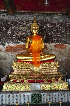 Free Thailand Bangkok Wat Suthat Stock Photo - 5379740