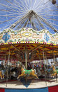 Free Fairground Carousel And Big Wheel Royalty Free Stock Photos - 5381258
