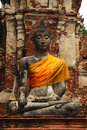 Free Thailand Ayutthaya Wat Phra Mahathat Royalty Free Stock Image - 5389326