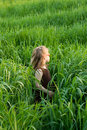 Free The Child In A Grass Royalty Free Stock Photo - 5389755