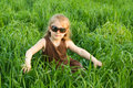 Free The Child In A Grass Royalty Free Stock Photo - 5389785