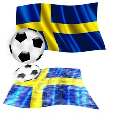 Free Football Sweden Flag Royalty Free Stock Image - 5380296