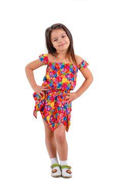 Little Girl In Short Dress Royalty Free Stock Image