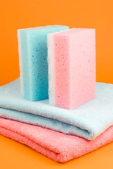 Free Towels And Sponges Stock Photos - 5380383