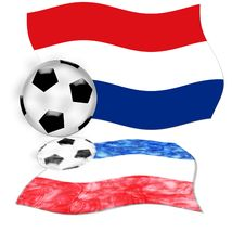 Free Football Netherlands Flag Stock Image - 5380431