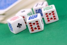 Free Macro Shot Of Dices Royalty Free Stock Photography - 5380537