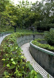 Curve Pathway Stock Image